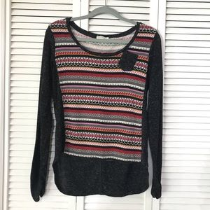 Love Tree Long Sleeve Striped PullOver